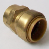 Brass Push Fit Straight 28mm to 1 inch Female Thread - 27002804